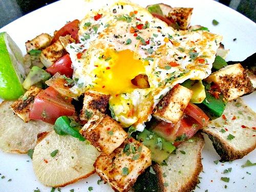 Jicima and Tofu Nachos 2