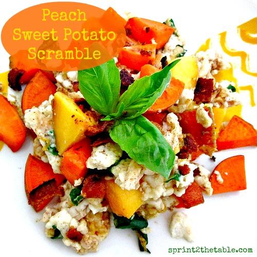 Peach Sweet Potato Scramble