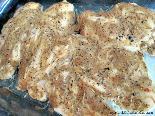 Baked Dijon Chicken in pan