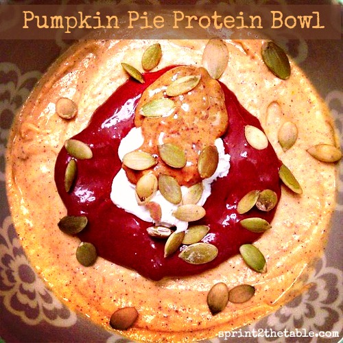 Pumpkin Pie Protein Bowl