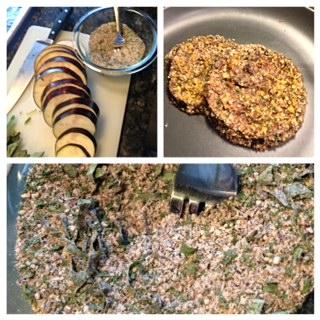 Vegan Eggplant Parm prep