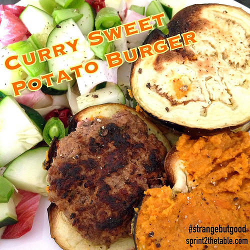 Curry Sweet Potato Burger