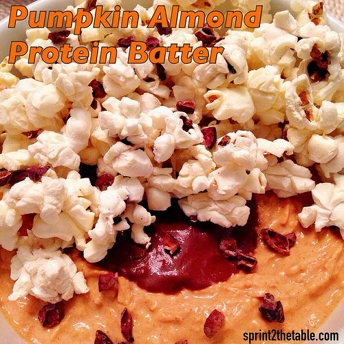 Pumpkin Almond Protein Batter