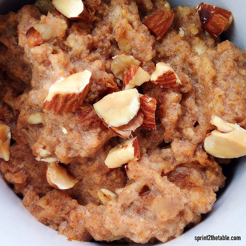 Pumpkin Pie Spiced Oatmeal