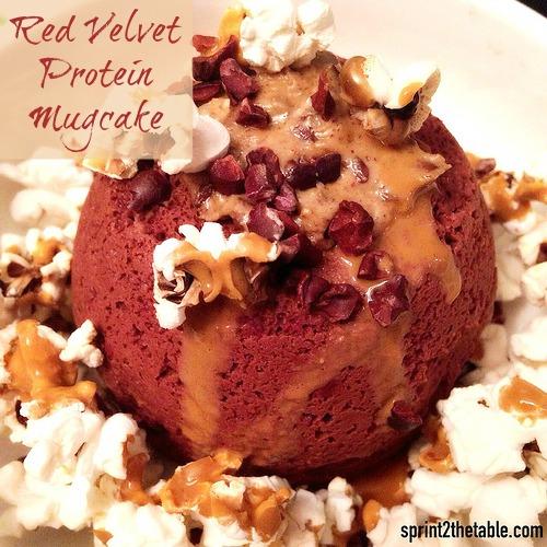 Red Velvet Protein Mugcake