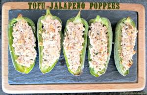 Tofu Stuffed Jalapenos