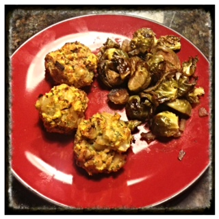 cauliflower meatballs and squash