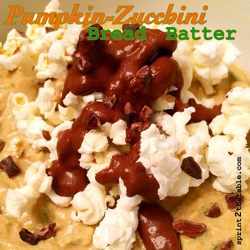 Pumpkin-Zucchini Bread Batter