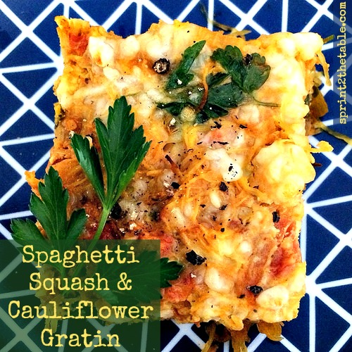 Spaghetti Squash & Cauliflower Gratin