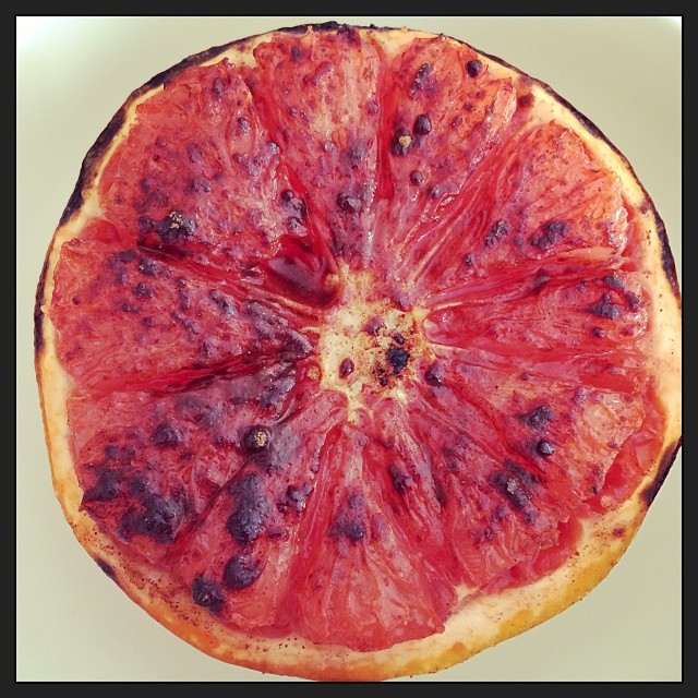 roasted grapefruit