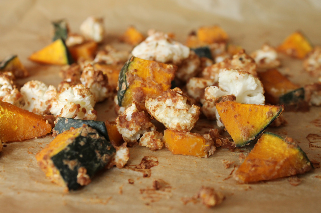 thai peanut kabocha and cauliflower