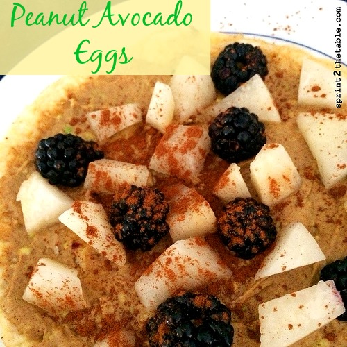 Peanut Avocado Eggs