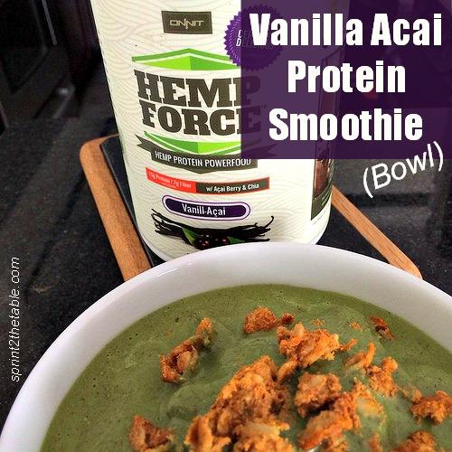 Vanilla Acai Hemp Protein Smoothie (Bowl)