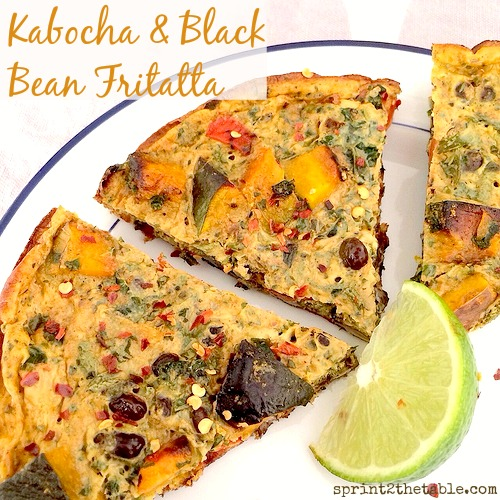 Kabocha and Black Bean Frittata
