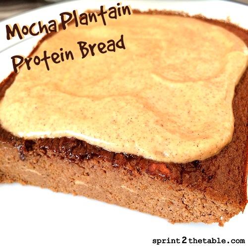 Mocha Plantain Protein Bread