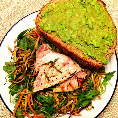 swordfish and avocado spread