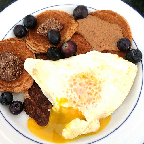 Cocoa-Maca Pancakes