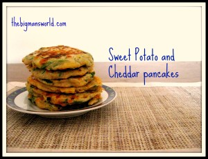 Sweet Potato and Cheddar Pancakes