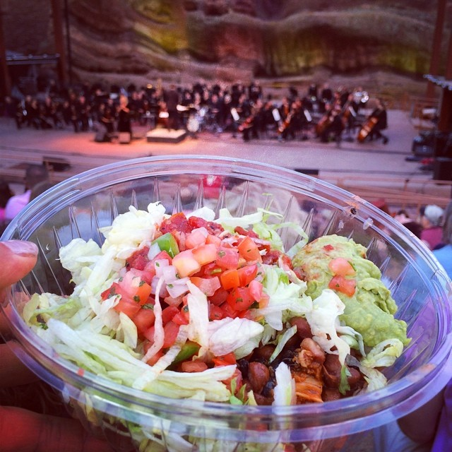 Burrito bowl at Red Rocks