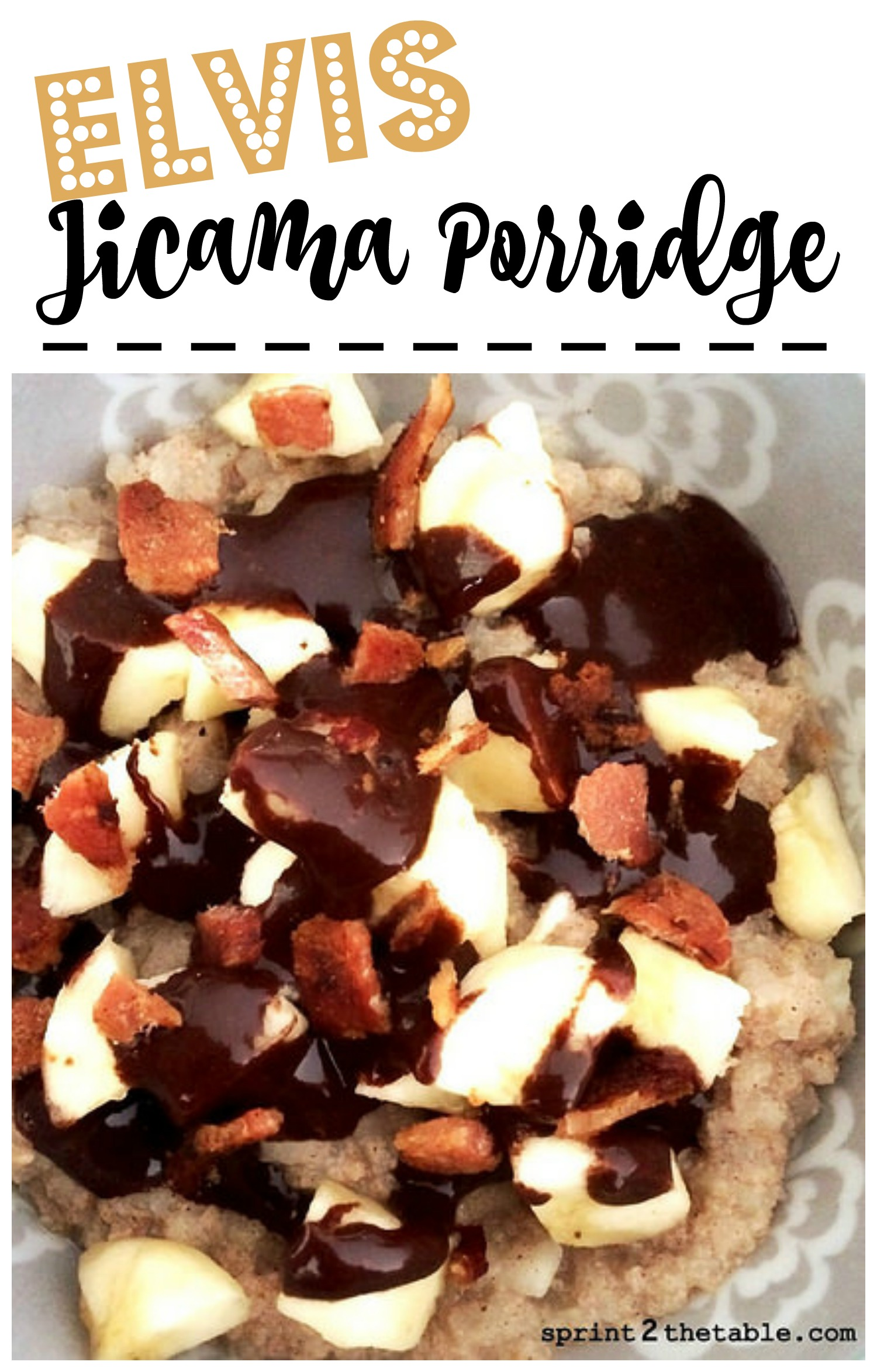 Elvis Jicama Porridge - a healthy, fiber-rich breakfast!