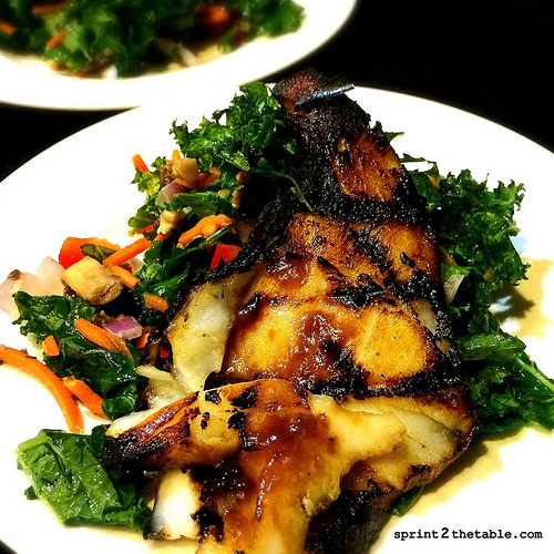 Miso Glazed Sea Bass