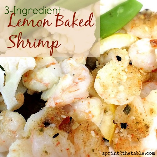 3-Ingredient Lemon Baked Shrimp