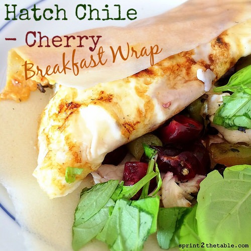 Hatch Chile-Cherry Breakfast Wrap
