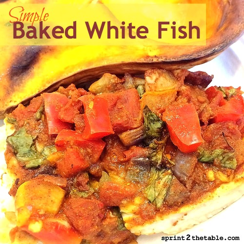 Simple baked white fish sprint 2 the table for Baked whiting fish