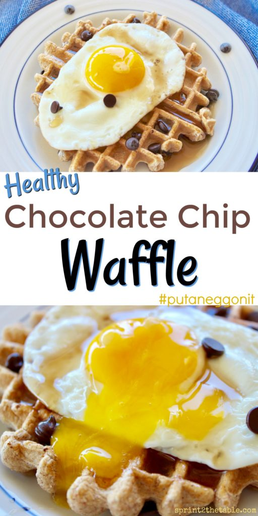 This Healthy Chocolate Chip Waffle is reminiscent of a Waffle House favorite. This waffle doesn't sacrifice on flavor, but it's much cleaner than its inspiration. Make a bunch to freeze for a quick breakfast! (Recipe includes a GF option,)