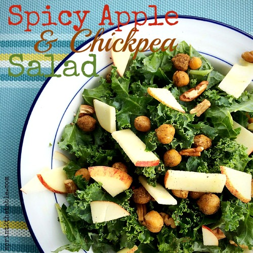 Spicy Apple & Chickpea Salad
