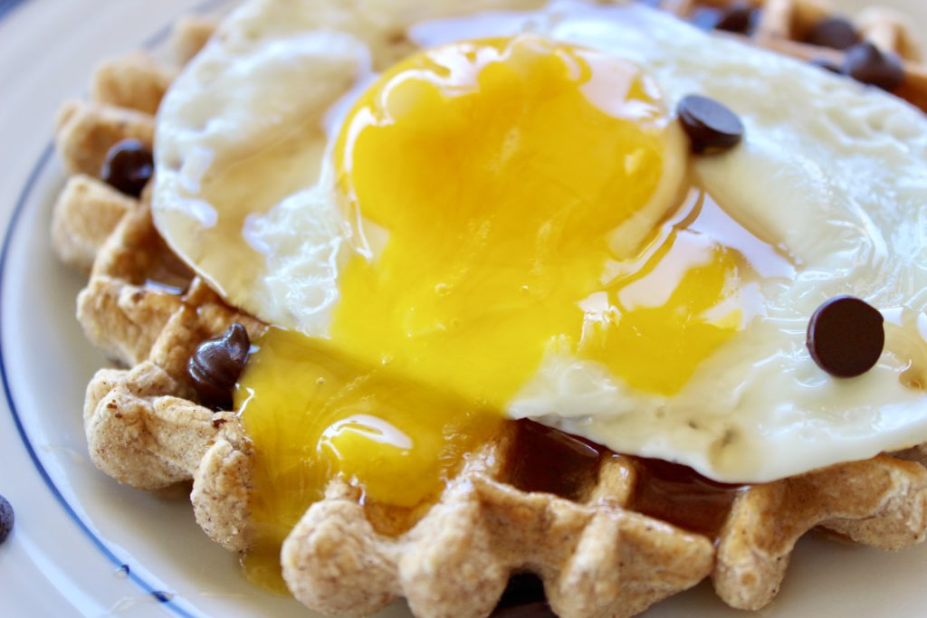 http://www.sprint2thetable.com/healthy-chocolate-chip-waffle/
