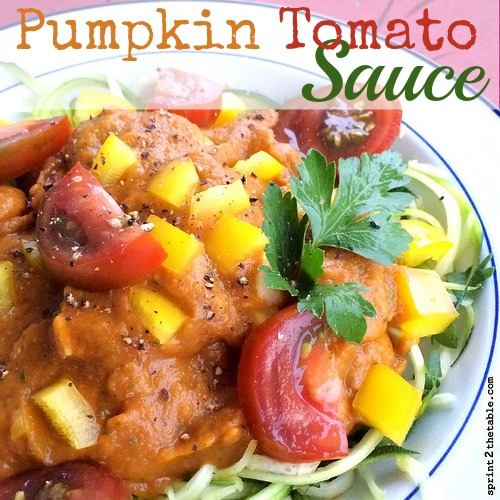 Pumpkin Tomato Sauce Recipe