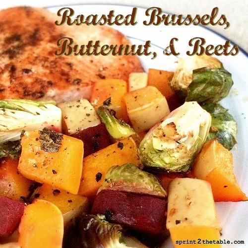 Roasted Brussels, Butternut, & Beets