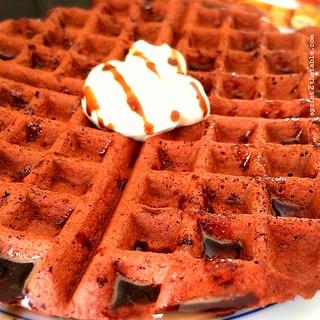 Red Velvet Protein Waffle