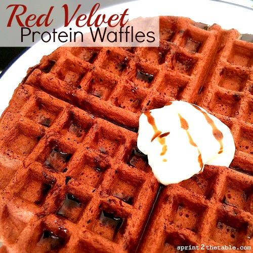 Red Velvet Protein Waffles Recipe