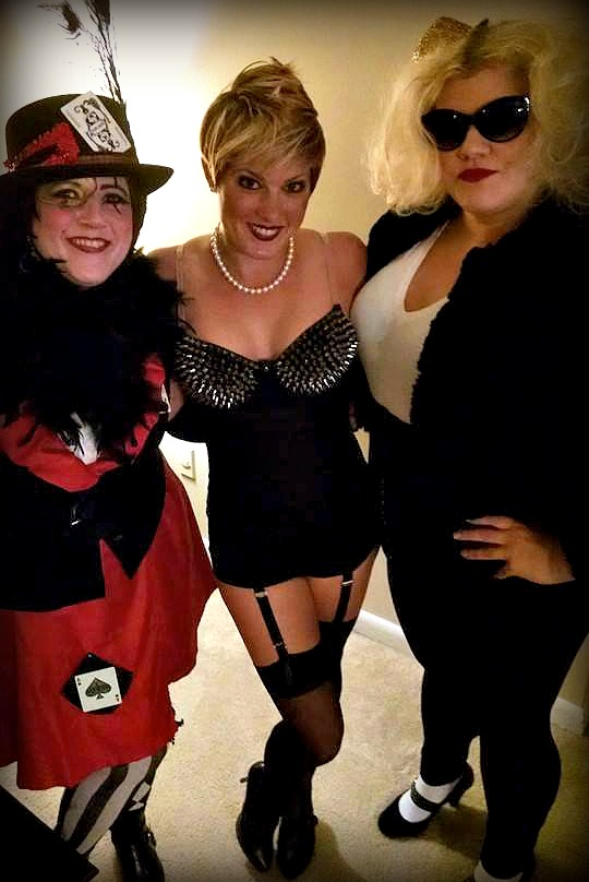 Dressed up to go to Rocky Horror!