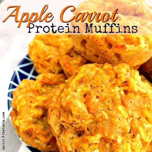 Apple Carrot Protein Muffin Recipe