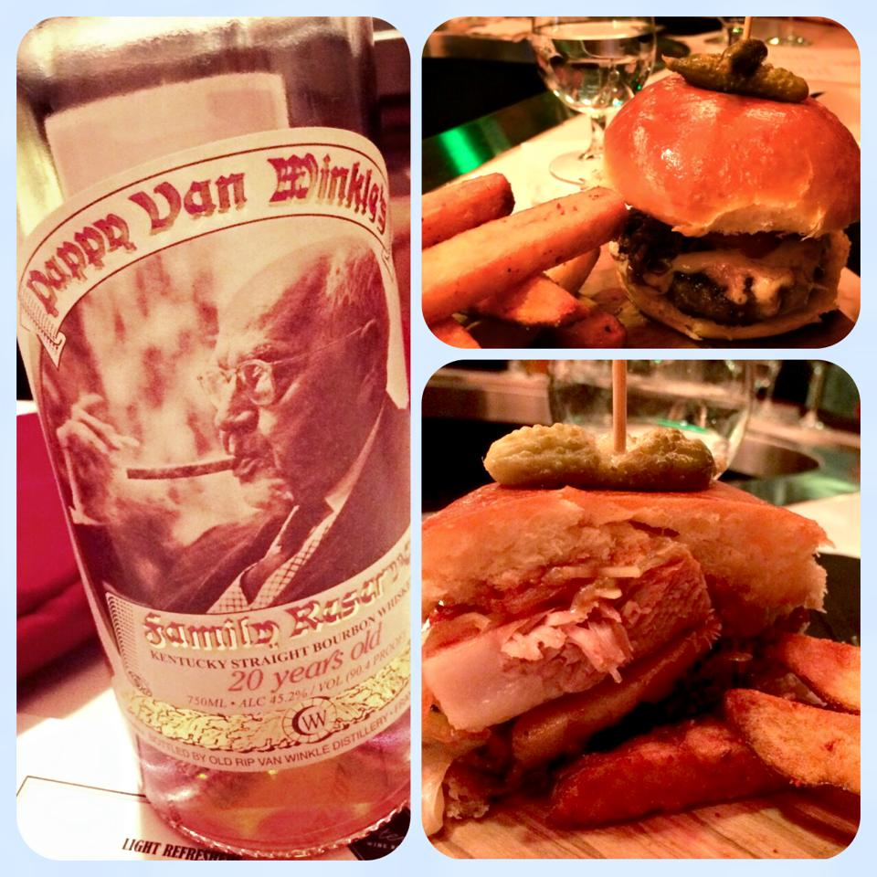Pappy and a burger