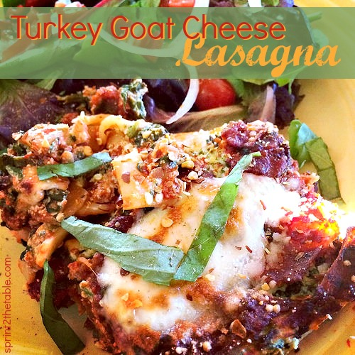 Turkey Goat Cheese Lasagna
