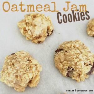 Oatmeal Jam Cookies