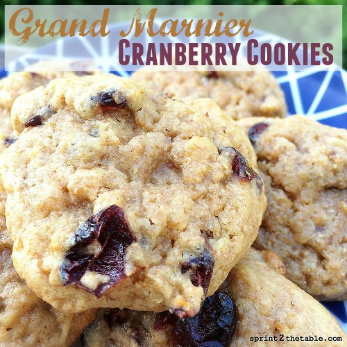 Grand Marnier Cranberry Cookies