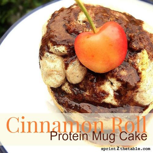 Cinnamon Roll Protein Mug Cake
