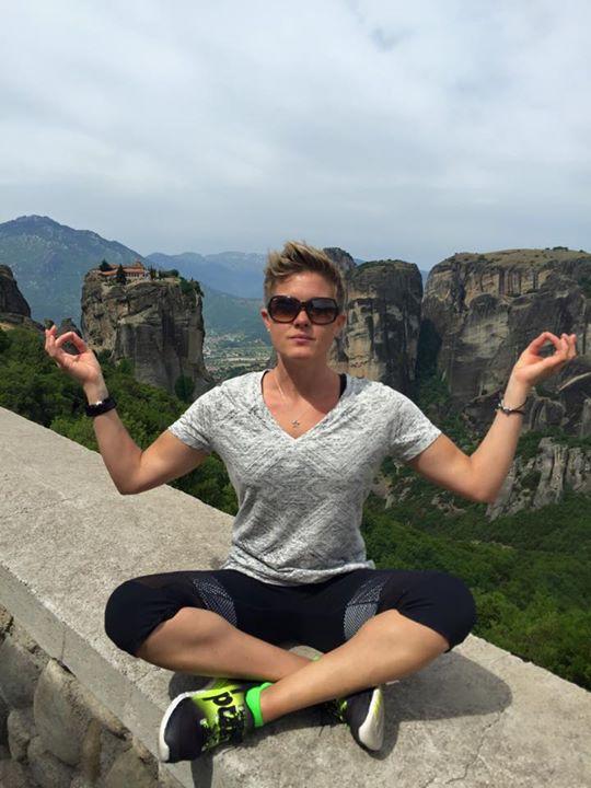 Meditating in Meteora