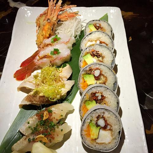Sushi course at Nobu