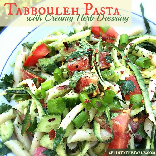 Tabbouleh Pasta with Creamy Herb Dressing