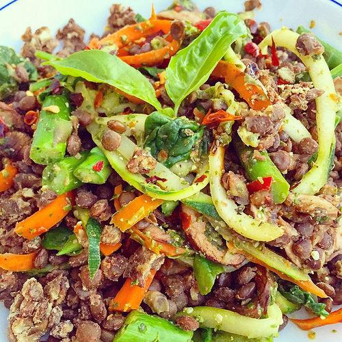 Vegan Pesto and Lentils