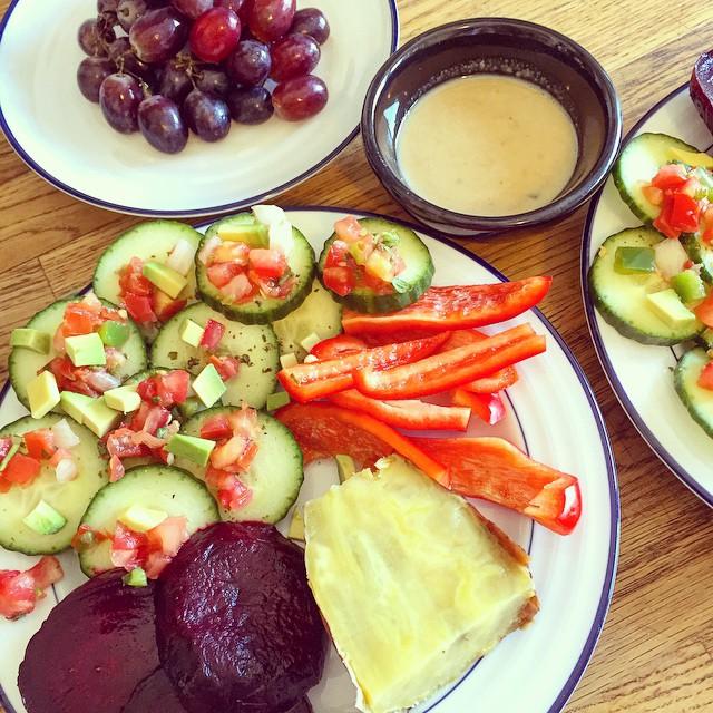 Veggie lunch spread