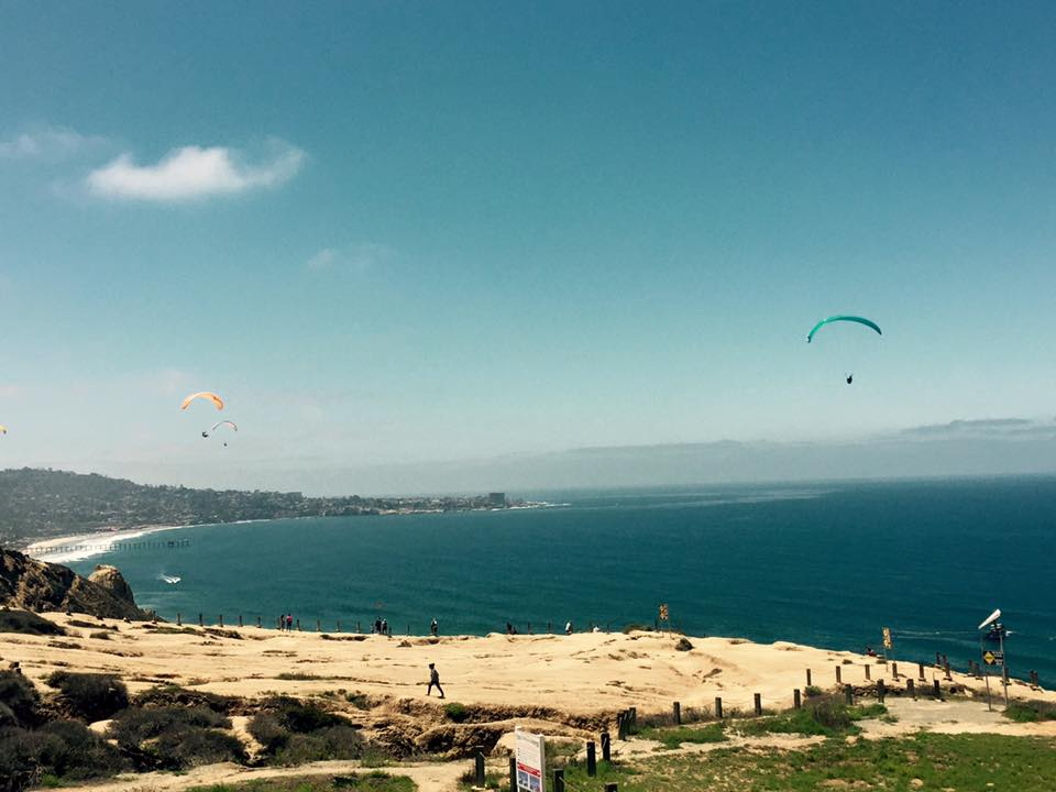 Black's Beach hang gliders