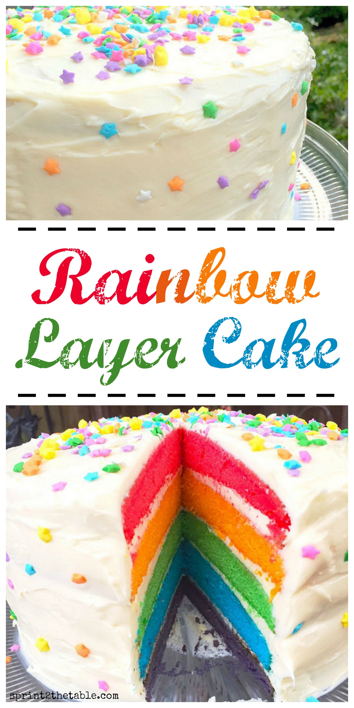 Rainbow Layer Cake - it takes some time to make, but I promise the end product is well worth it. Plus I have a few tricks to make it easier!