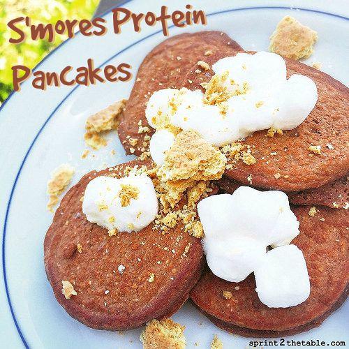 S'mores Protein Pancakes